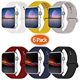 IDON Smart Watch Sport Band, Soft Silicone Replacement Strap Band Compatible with Watch Band 44MM 42MM 40MM 38MM Watch Series 4/3 /2/1, S/M M/L,All Models