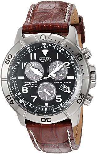 Citizen Men's Eco-Drive Titanium Chronograph Watch with Perpetual Calendar and Date, BL5250-02