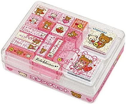 Sumikko Gurashi Stamp Market Stamp Set 16 Stamps and 2 Stamp Ink Pads