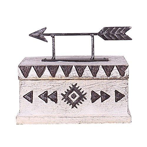 "Fargal Resin 5"" Arrow cover With Tatom Pattern Keepsake Decorative trinket box"