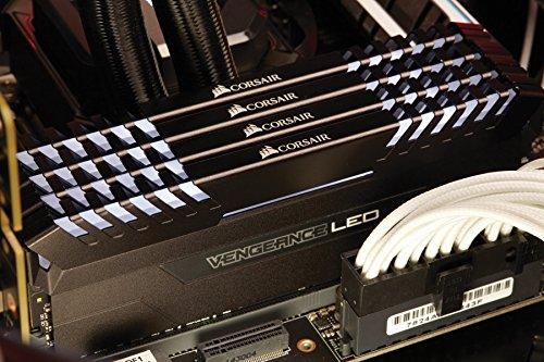 Corsair Vengeance 64GB (4x16GB) DDR4 3200 (PC4-25600) C16 for Intel 100, White LED (CMU64GX4M4C3200C16) by Corsair (Image #4)