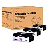 Case of 12 Packs,(Rainbow Color) FWPP Earloop Disposable Face Masks, 4(Filter Layer) Ply Super Filter Pollen Dust and Bacteria, Anti Allergy Dental Medical Procedure Surgical Flu Masks, Pack of 50 P