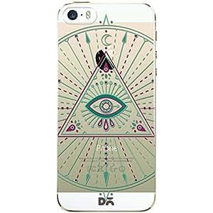 DailyObjects Green Evil Eye Mandala Clear Case For iPhone SE