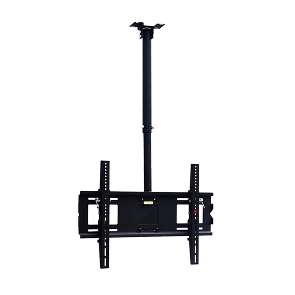 高さ調節可能 天井テレビブラケット 傾斜回転マウント 60 – 75インチLEDプラズマモニターフラットパネルディスプレイスマートTV用   B07F66845X