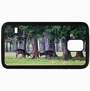 Fashion Unique Design Protective Cellphone Back Cover Case For Samsung GalaxyS5 Case Deer Black