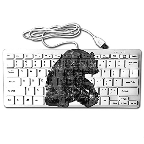 Grizzly Bear Clipart USB Wired 78 Keyboard Mini Ultra Slim Noiseless Keyboard For Pc Computer (Bears Clipart)