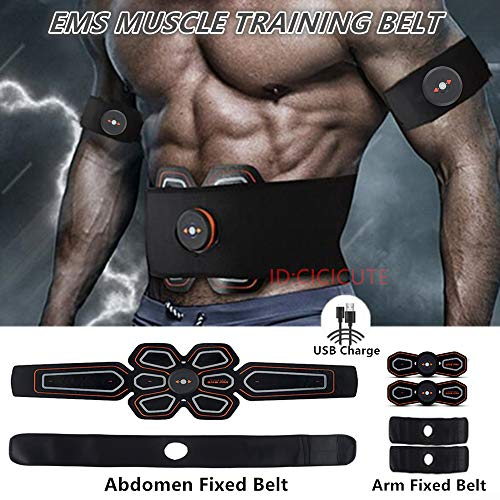 - CICICUTE ABS Muscle Toner Abdominal Toning Belt Workouts Portable EMS Training Home Office Fitness Equipment for Abdomen/Arm/Leg Training(USB Charging)