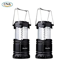 Camping Lantern,Diealles 2 Pack Collapsible LED Lantern Portable Outdoor Flashlight Lanterns 30 LEDs - Battery Powered - Water Resistant for Emergency Light, Outdoor Camping, Hiking, Fishing and Other Outdoor Activties, Easy On & Off