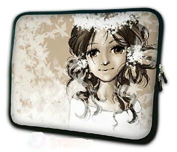 Funda para ordenador portátil o tablet con dibujos animados fille cheveux bouclés 10: Amazon.es: Informática