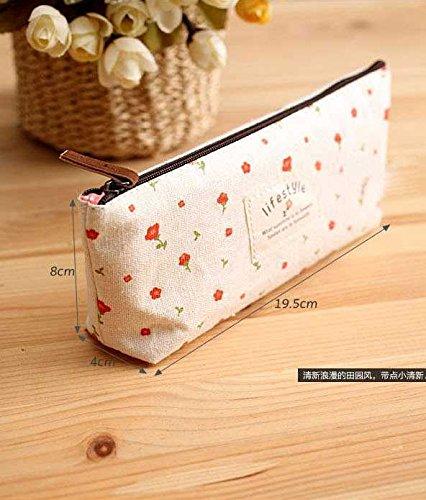 fligatto 4Bleistift Stationery Tasche Garten floral Leinwand Pen Bleistift Box aqYpAe
