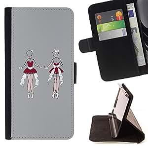 Momo Phone Case / Flip Funda de Cuero Case Cover - Lingerie Femme Sketch Gris - LG G4c Curve H522Y (G4 MINI), NOT FOR LG G4