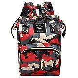 Dermanony Large Capacity Backpack Floral Printed Mummy Bag Nappy Bottle Bag Baby Bag Travel Backpack Nursing Bag