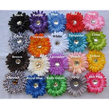 Amazon 12 4 Gerbera Daisy Flower Heads Assorted Colors Home