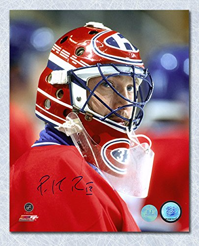 AJ Sports World Patrick Roy Montreal Canadiens Autographed Goalie Mask Close Up 8x10 Photo