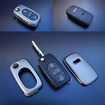 AUDI A2 A3 A4 A6 A8 TT 3 Botón Remoto Clave Fob Carcasa Protectora Flip Kit de servicio
