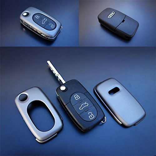 OriginalEuro Remote Flip Key Cover Case Skin Shell Cap Fob Protection S Line Grey for Early Audi