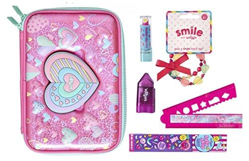 Stationery Set 4pcs- Ruler Eraser /& Pink Pencil Sharpener Pencil L.O.L Surprise