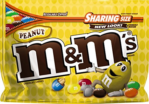 M&M'S Peanut Chocolate Candy Sharing Size 10.7-Ounce Bag]()