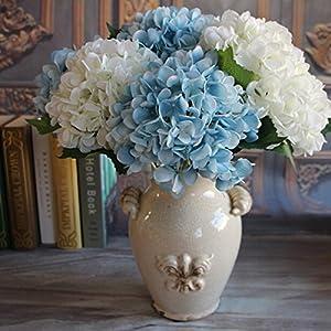 Muhan 1pc Artificial Blooming Hydrangea Silk Flowers for DIY Bouquets,Wedding Centerpieces,Home Garden Decor Flower Arrangements 110