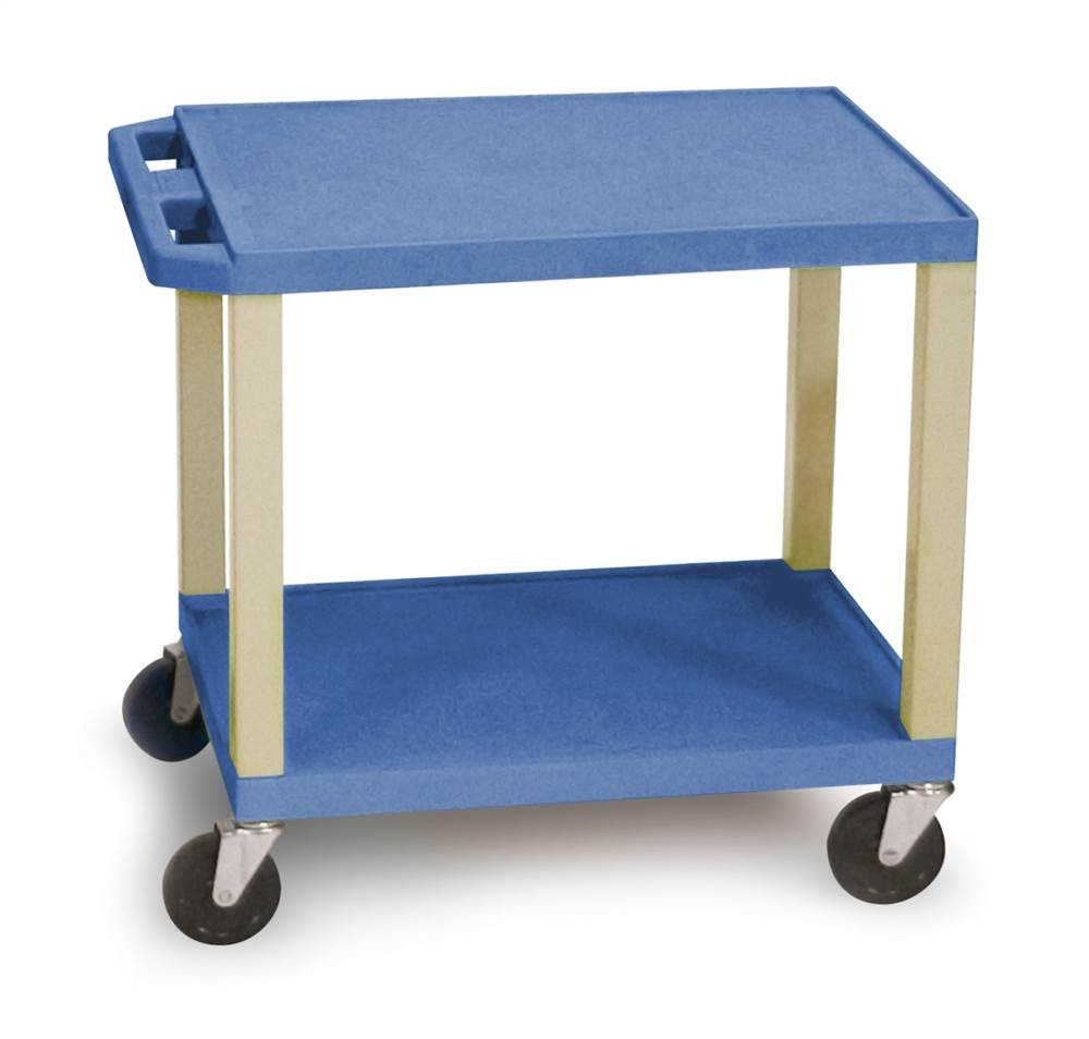 H WILSON WT26BUE Multipurpose Utility Cart, Blue and Putty