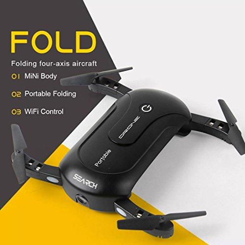 Leewa@ Foldable Portable Mini 2.4G 6Axis HD Camera WIFI FPV RC Quadcopter Drone Selfie by Leewa
