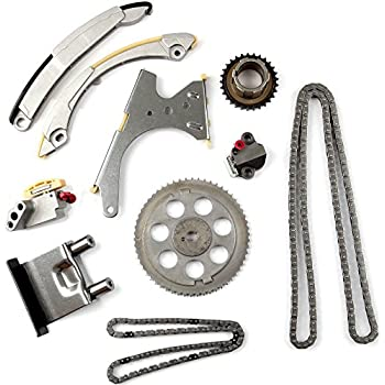 OCPTY Timing Chain Kit Tensioner Guide Rail Cam Sprocket fits for 2002-2007 Chevrolet Corolado GMC Canyon Hummer 2.8L 3.5L 4.2L 761392E