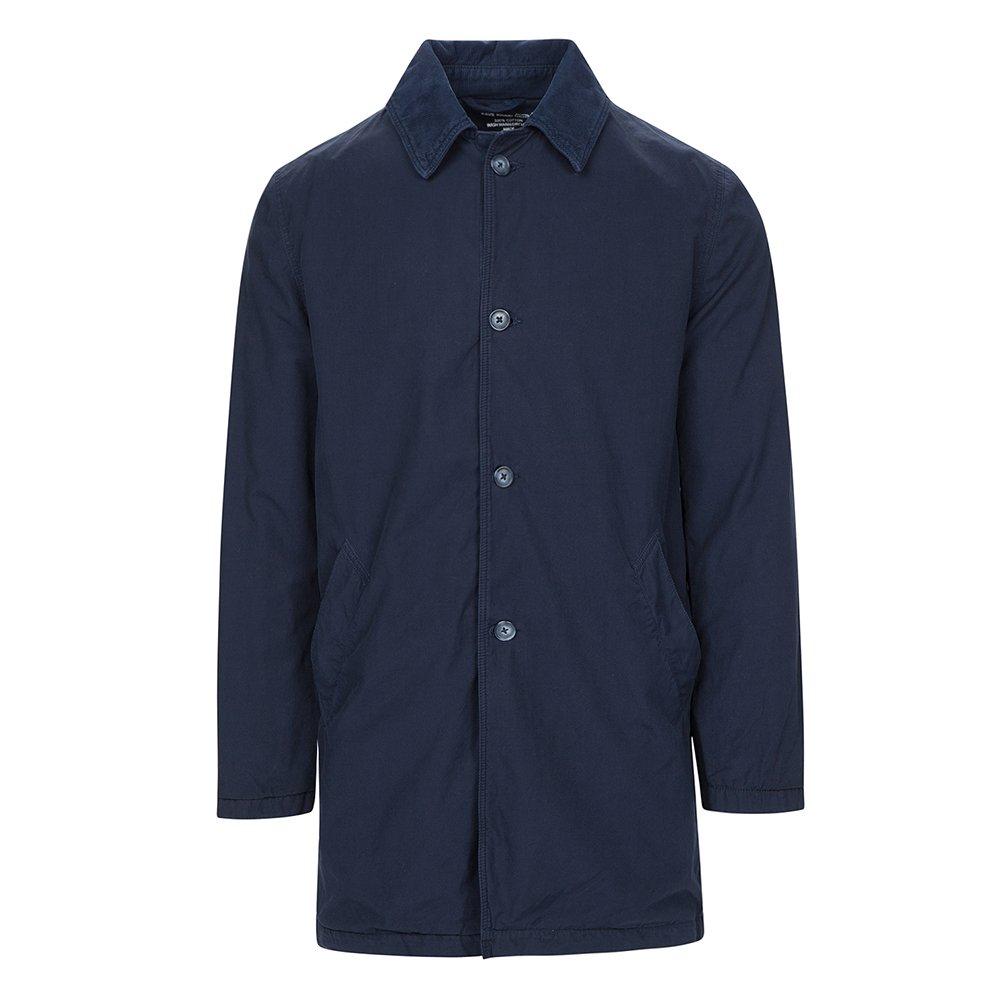 Save Khaki Men's Fleece Lined Trench Jacket SK856 Navy SZ S