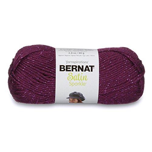 (Bernat Satin Sparkle Yarn, 2.8 oz, Gauge 4 Medium, Amethyst)