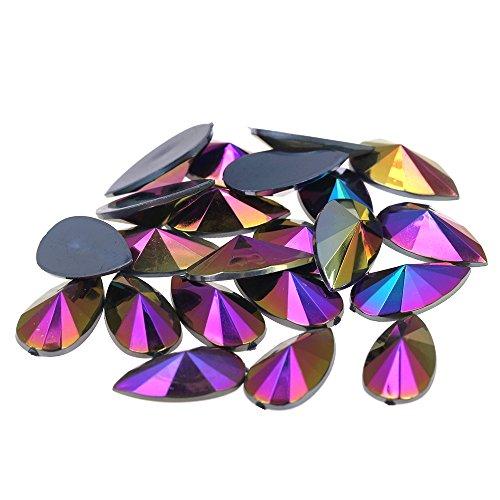 - Nizi 9x18mm 200pcs Black AB Tear Shape Acrylic Rhinestones Flatback Pointed Faceted Strass Gems 3D Nail Art Decorations Craft Art Accessories