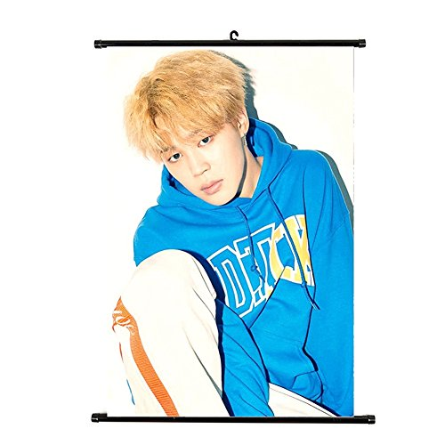 NUOFENG Kpop BTS Bangtan Boys MIC Drop Poster Wall Scroll Ha