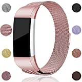 For Fitbit Charge 2 Bands, Maledan Stainless Steel Milanese...