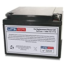 Sunnyway SW12280 12V 28Ah Sealed Lead Acid Battery Replacement with Nut & Bolt Terminals