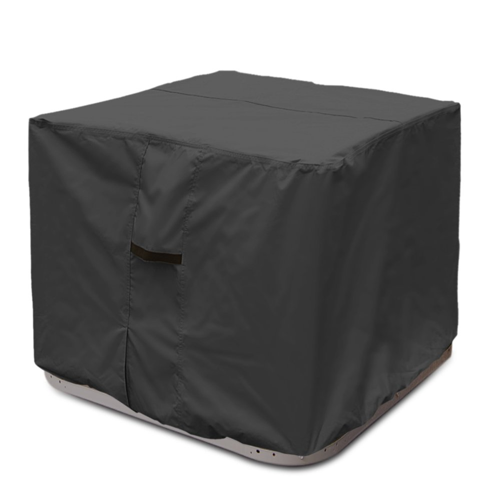Porch Shield 100% Waterproof 600D Heavy Duty Patio Square Air Conditioner Cover 34x34 inch, Black by Porch Shield