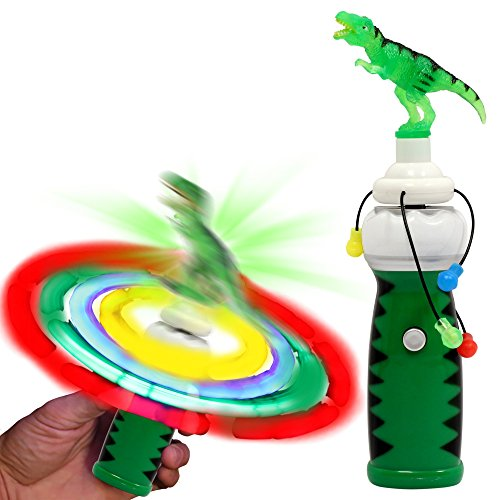 Windy City Novelties LED Light Up Dinosaur Spinner Toy for -