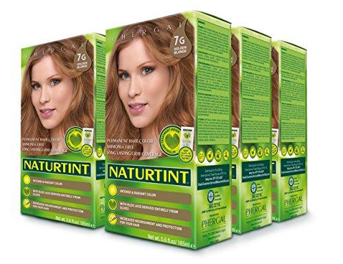 Naturtint Permanent Hair Color - 7G Golden Blonde, 5.28 fl oz (6-pack) -