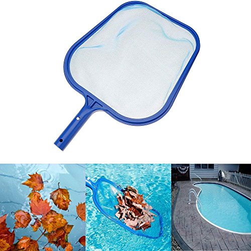 Xisheep Professional Heavy Duty Pool Leaf Rake Fine Mesh Frame Net Pool Skimmer Cleaner Swimming Pool Spa Tool (Netting Leaf)