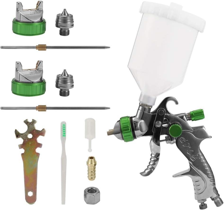 2008HVLP Auto Paint Air Spray Gun Kit Gravity Feed Car Primer 1.4MM~2.0MM Nozzle