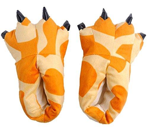 MILEEO Unisex Herbst Winter Tierhausschuhe Plüsch Hausschuhe Pantoffeln Kostüme Warme Puschen Giraffe