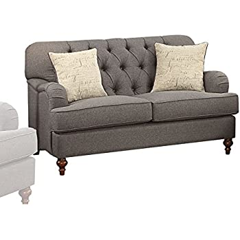 Amazon.com: Acme Muebles 53691 Alianza Loveseat con 2 ...