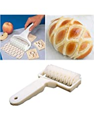 Crazydeal Kitchen Baking Dough Cookie Pie Pizza Pastry Lattice Roller Cutter Craft Tool 02