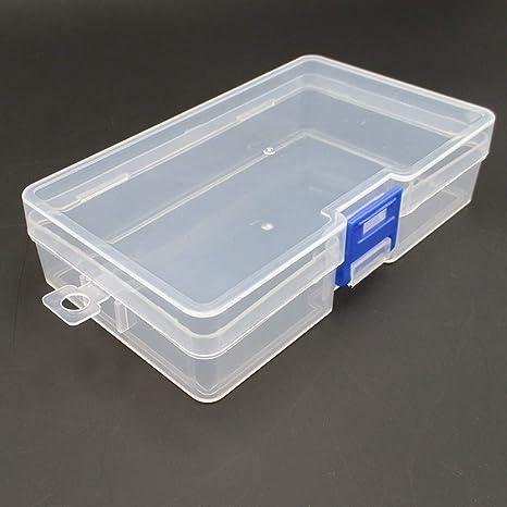 Mayyou Almacenamiento de plástico Caja pequeña Clear no división ...