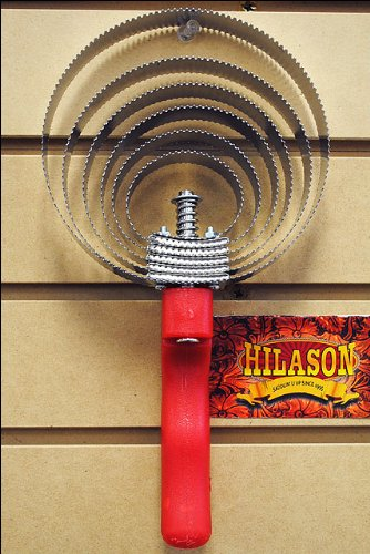 HILASON F241 HORSE TACK REVERSIBLE CURRY COMB WITH RED PLASTIC HANDLE 6 BLADES