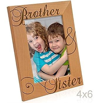 Amazon.com - Kate Posh - Brother & Sister Engraved Natural Wood ...
