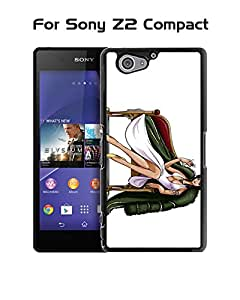 Japanese Nico Robin-One Piece Pattern For Sony Z2 Compact Funda Case Famous Stylish [Perfect-Fit] Slim Tough Durable Back Skin Protector For Sony Xperia Z2 Compact (Just suit for Z2 Compact)