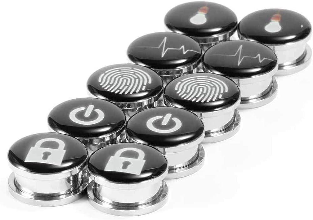 Jovivi 10pcs Mixed Stone Ear Plugs Tunnels Saddle Expander Body Piercing Set Gauges 2g-5//8