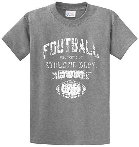 FOOTBALL ATHLETIC DEPT PRINTED TEE SHIRT - GREY 7XL -