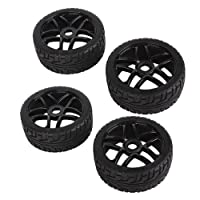 DN Hub Wheel Rim&Rubber Tires RC 1:8 Off-Road Tyre 180083 17mm Hexagonal Joint (Pack Of 4)