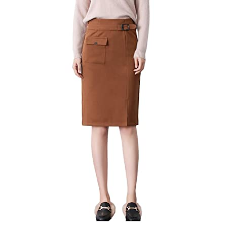 Confirm. brown straight skirt are absolutely