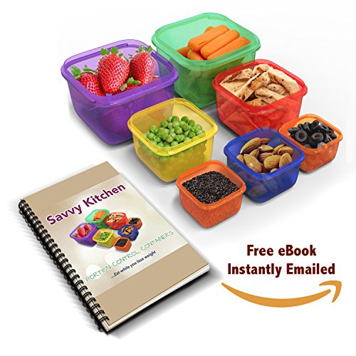 Best deal 7 piece portion control containers kit for weight loss best deal 7 piece portion control containers kit for weight loss bonus ebook with pdf planners guide included 100 leak free multi colored fandeluxe Gallery