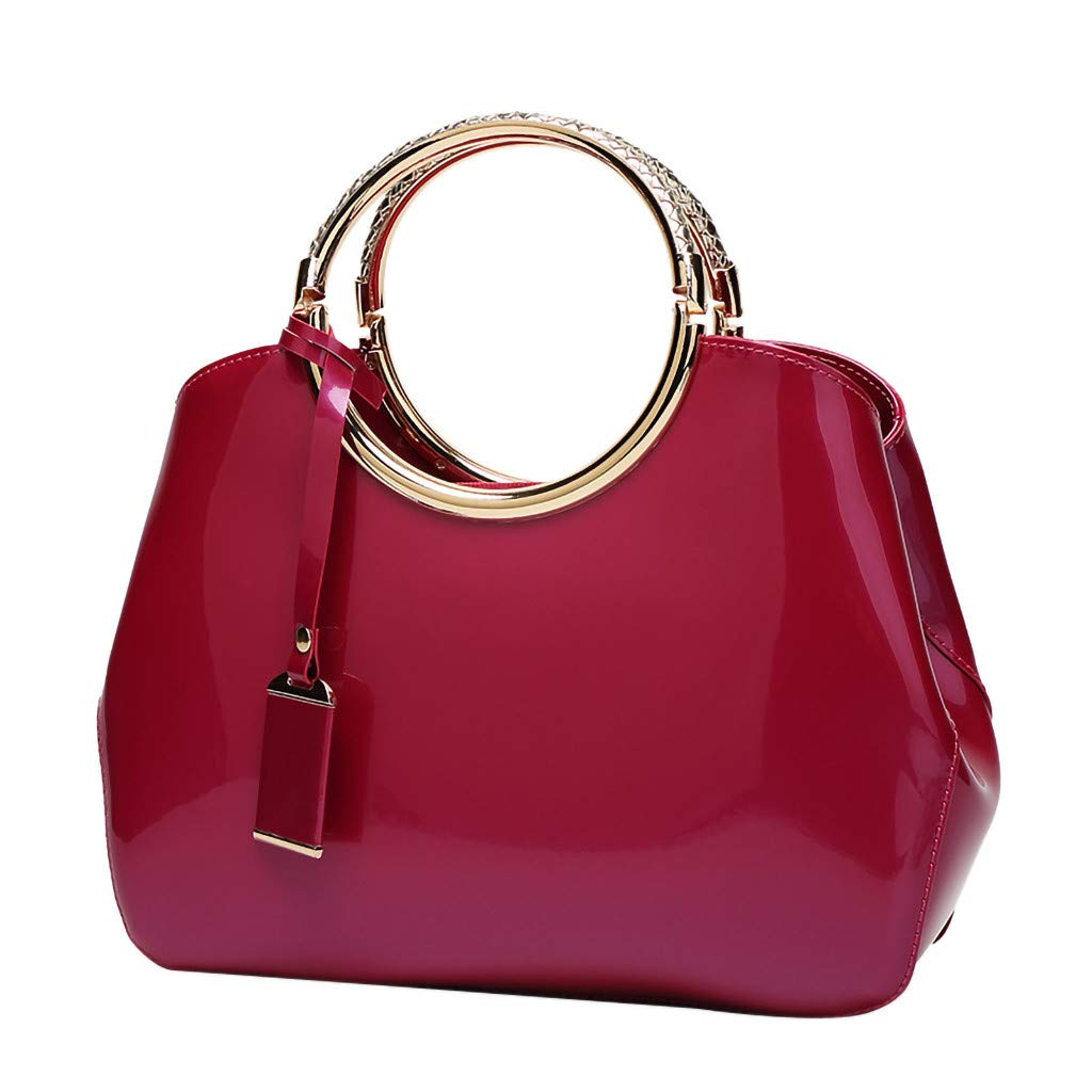 Claystyle Women's Fashion Leather Shoulder Messenger Crossbody Bags Casual Clutch Totes Hot Pink by Claystyle Bags